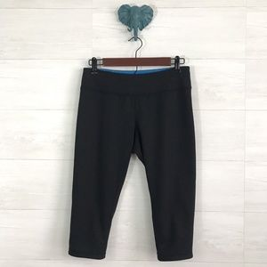 Zella Reversible Blue Black Capri Yoga Pants